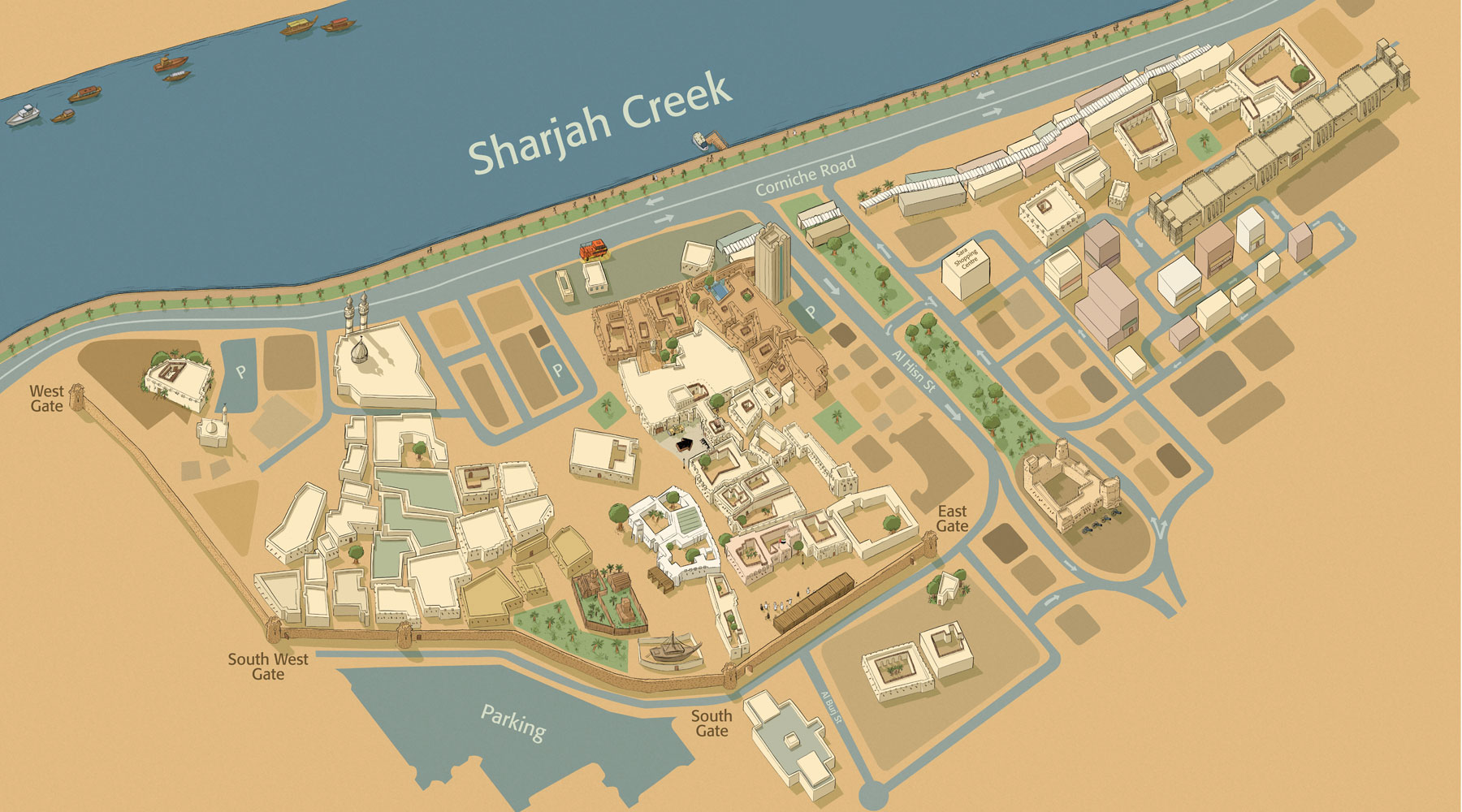 Heart of Sharjah Interactive Map